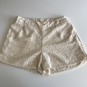 Anthropologie Sunday in Brooklyn Cream Lace Shorts